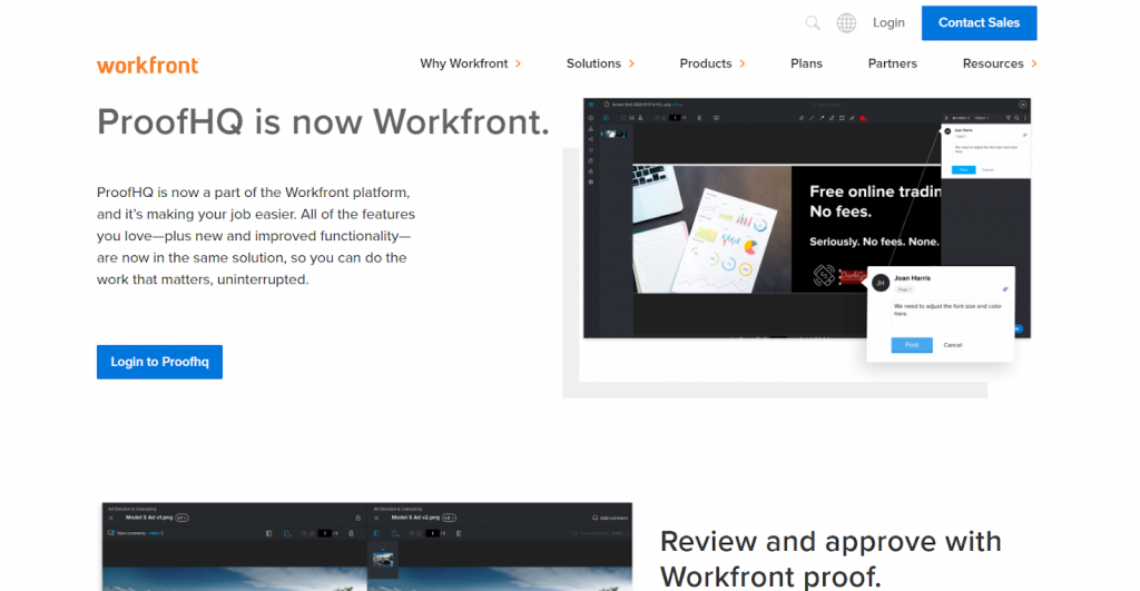 Workfront website