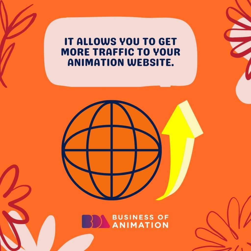 It allows you to get more traffic to your animation website.