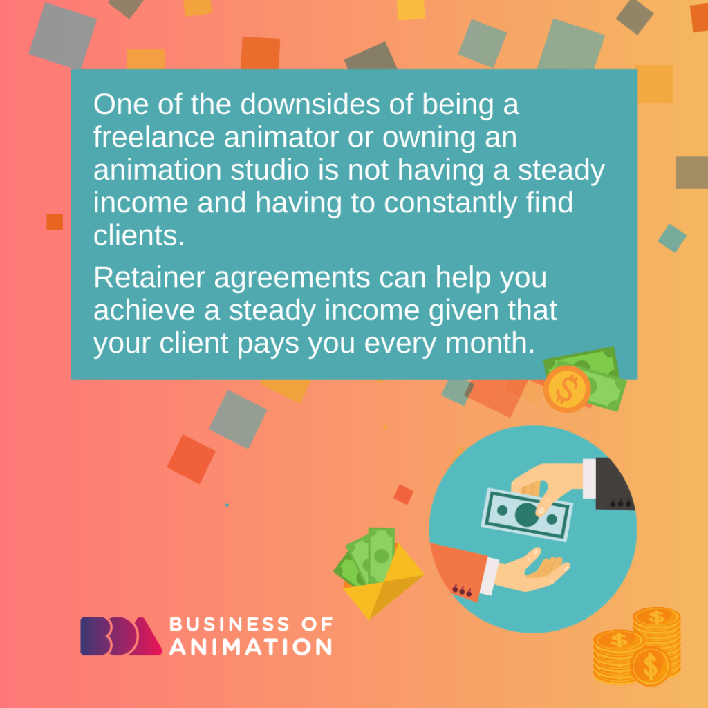 One of the downsides of being a freelance animator or owning an animation studio is not having a steady income and having to constantly find clients.