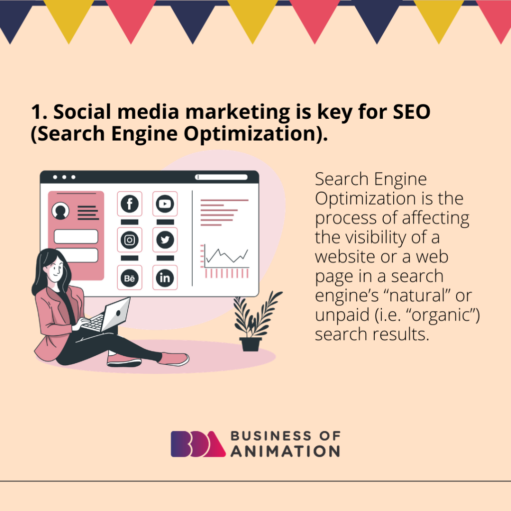 Social media marketing is key for SEO (Search Engine Optimization)