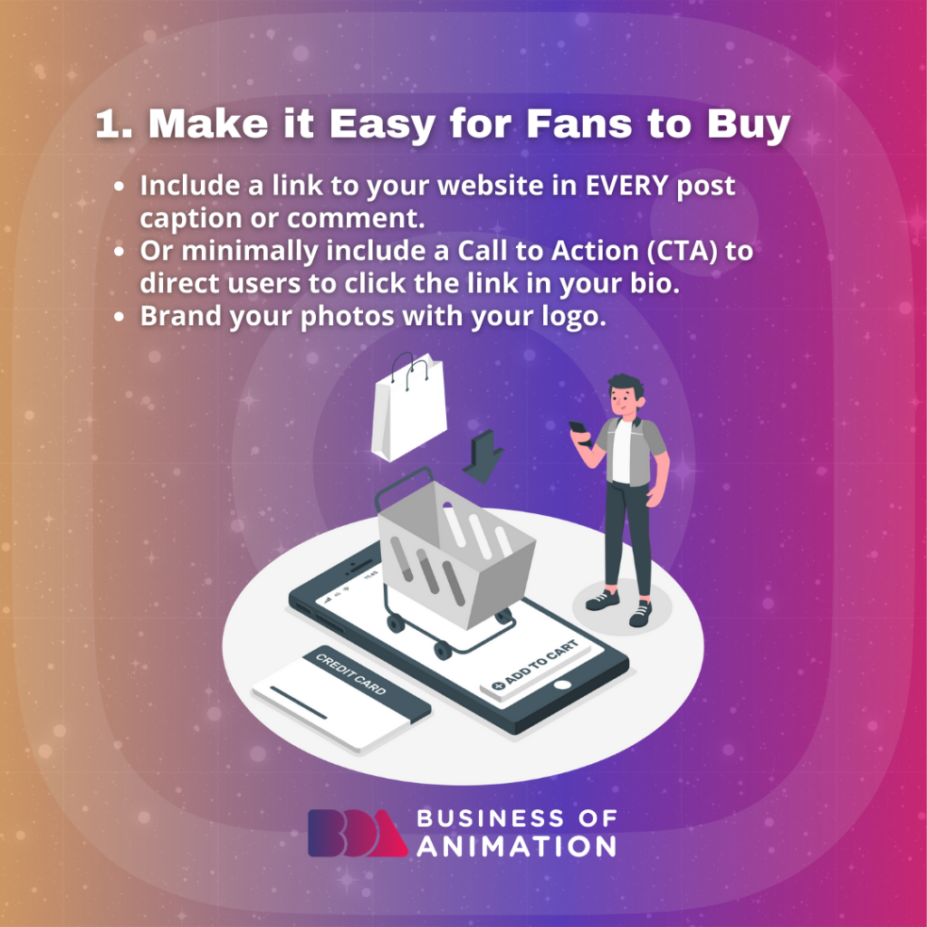 Make It Easy for Fans to Buy
