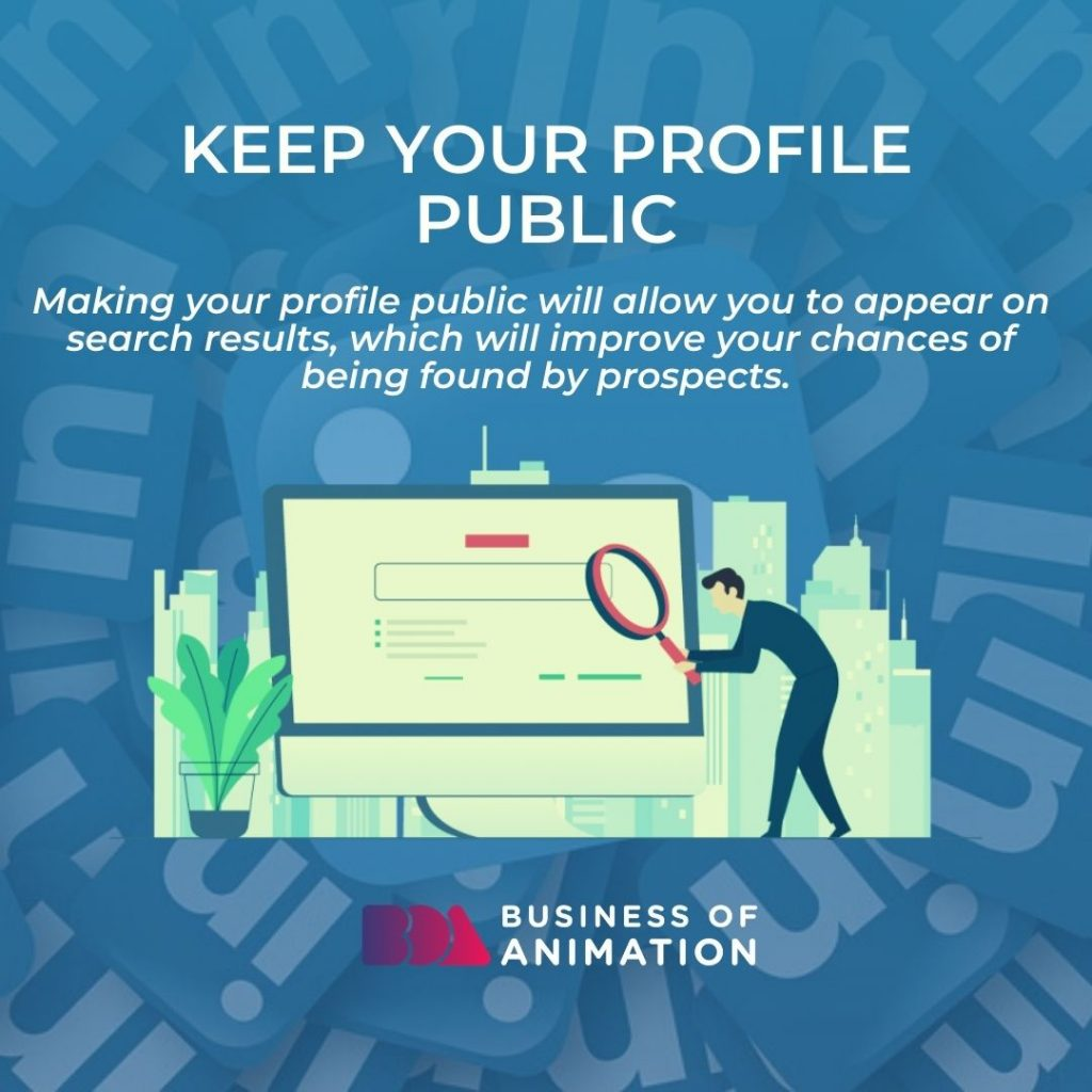 Keep Your Profile Public