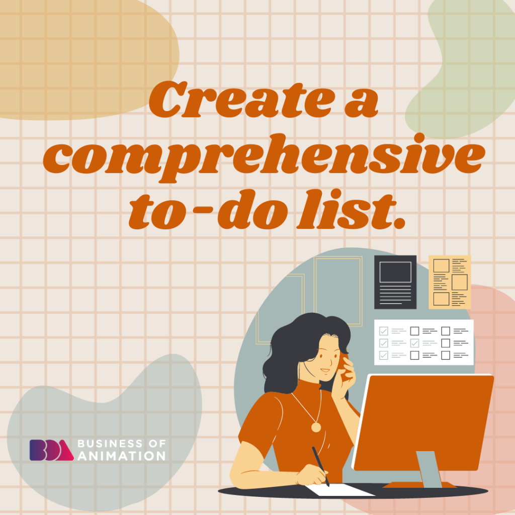 Create a comprehensive to-do list