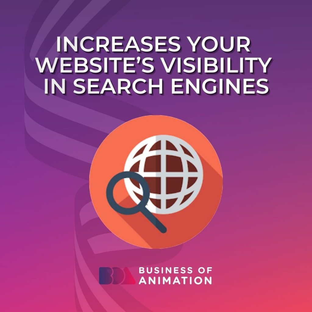 Increases Your Website's Visibility In Search Engines