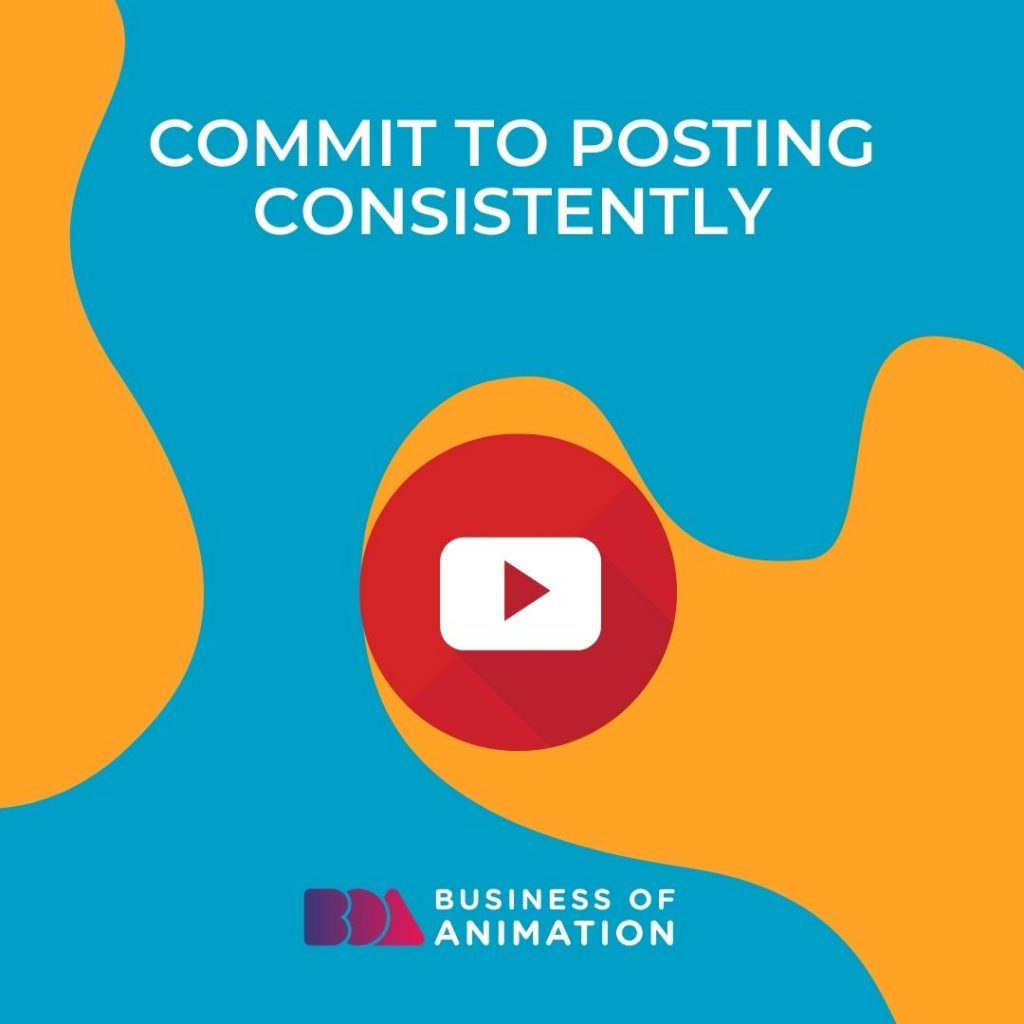 Commit to posting consistently