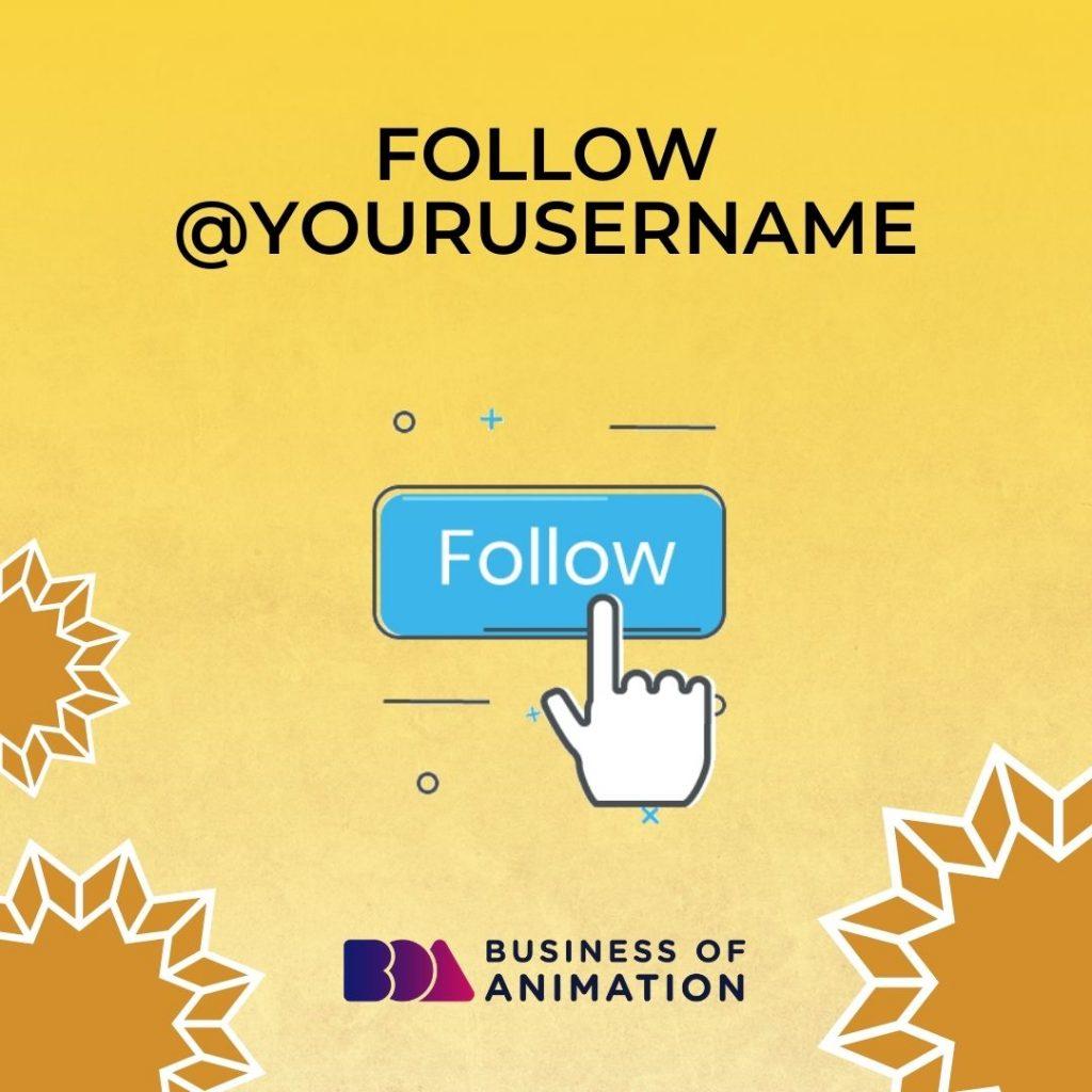 Follow @YourUserName