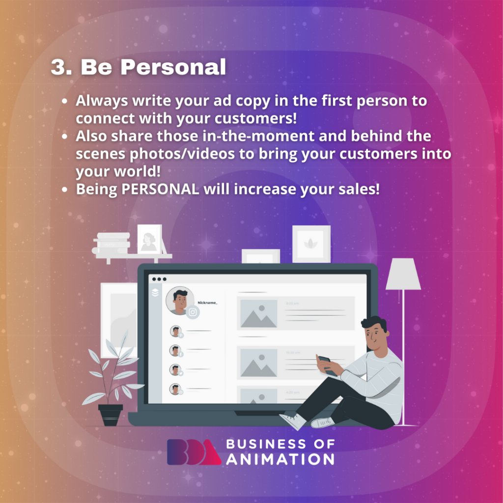 Be Personal.
