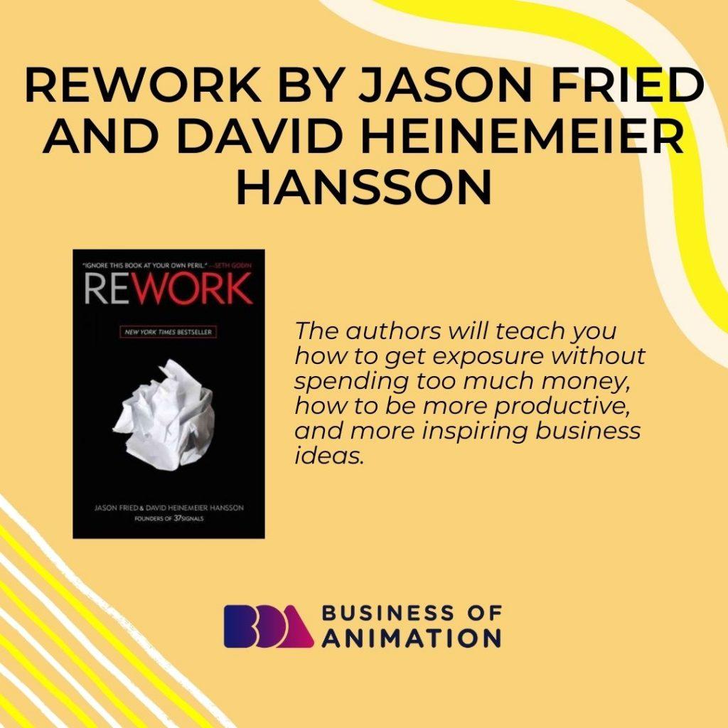 Rework by Jason Fried and David Heinemeier Hansson