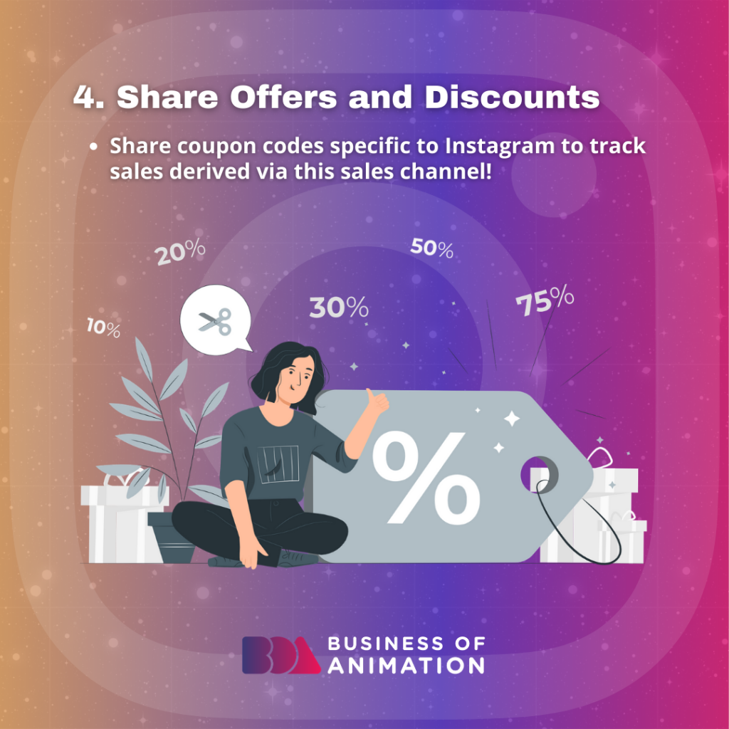 Share Offers and Discounts.