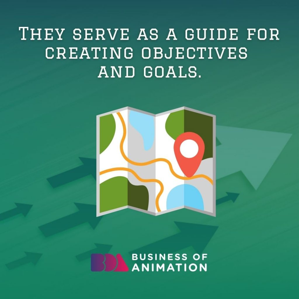 They Serve as a Guide for Creating Objectives and Goals