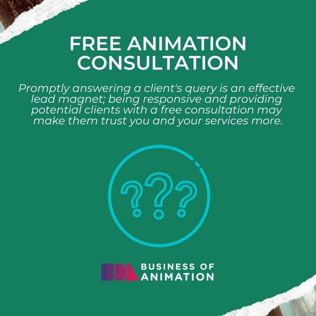 Free Animation Consultation