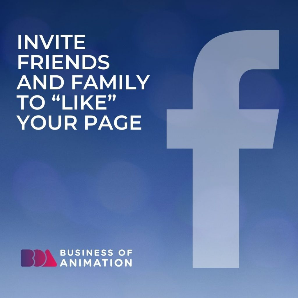 """Invite Friends and Family to """"Like"""" Your Page"""