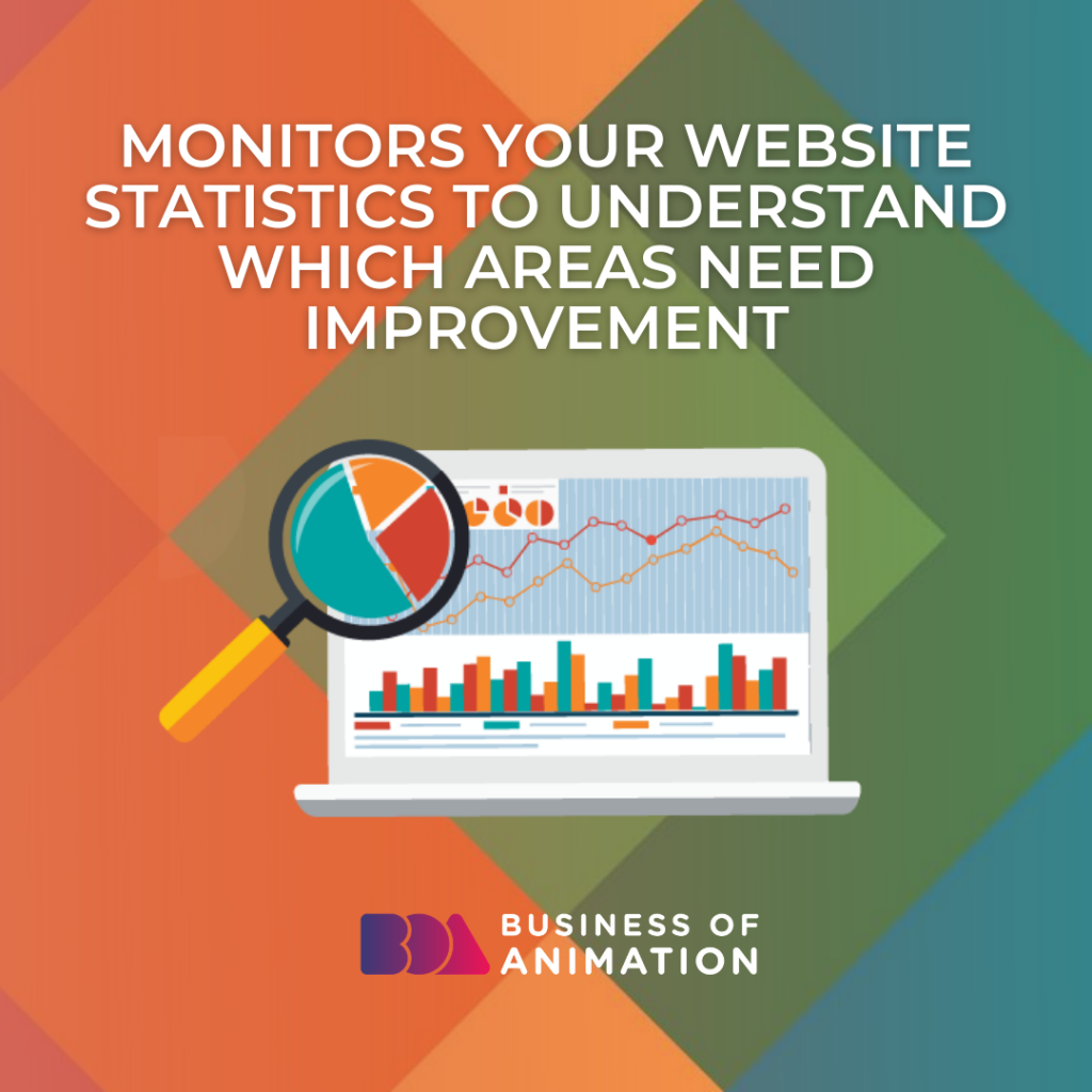 Monitors Your Website Statistics to Understand Which Areas Need Improvement