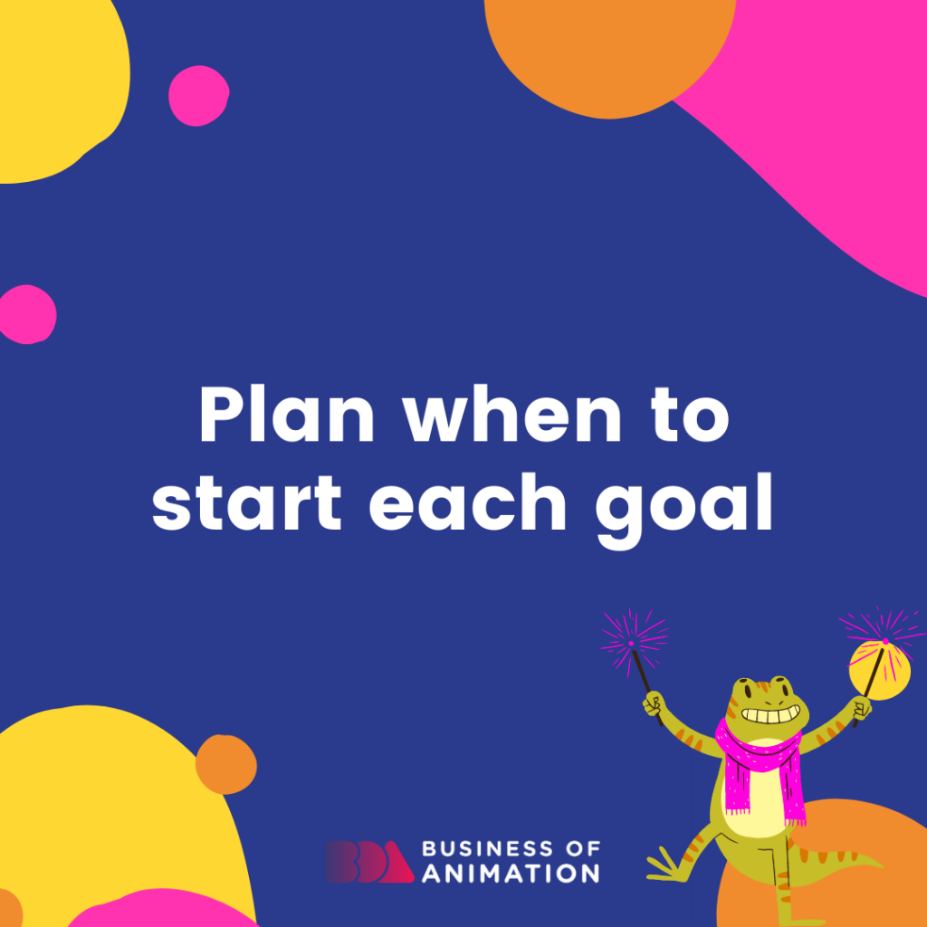 Plan when to start each goal