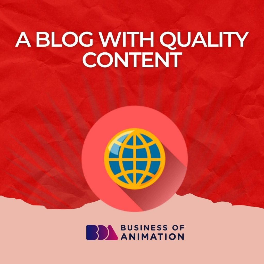 A blog with quality content