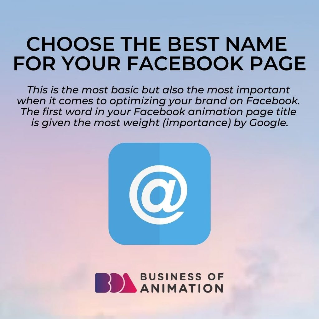 Choose the Best Name for your Facebook Page