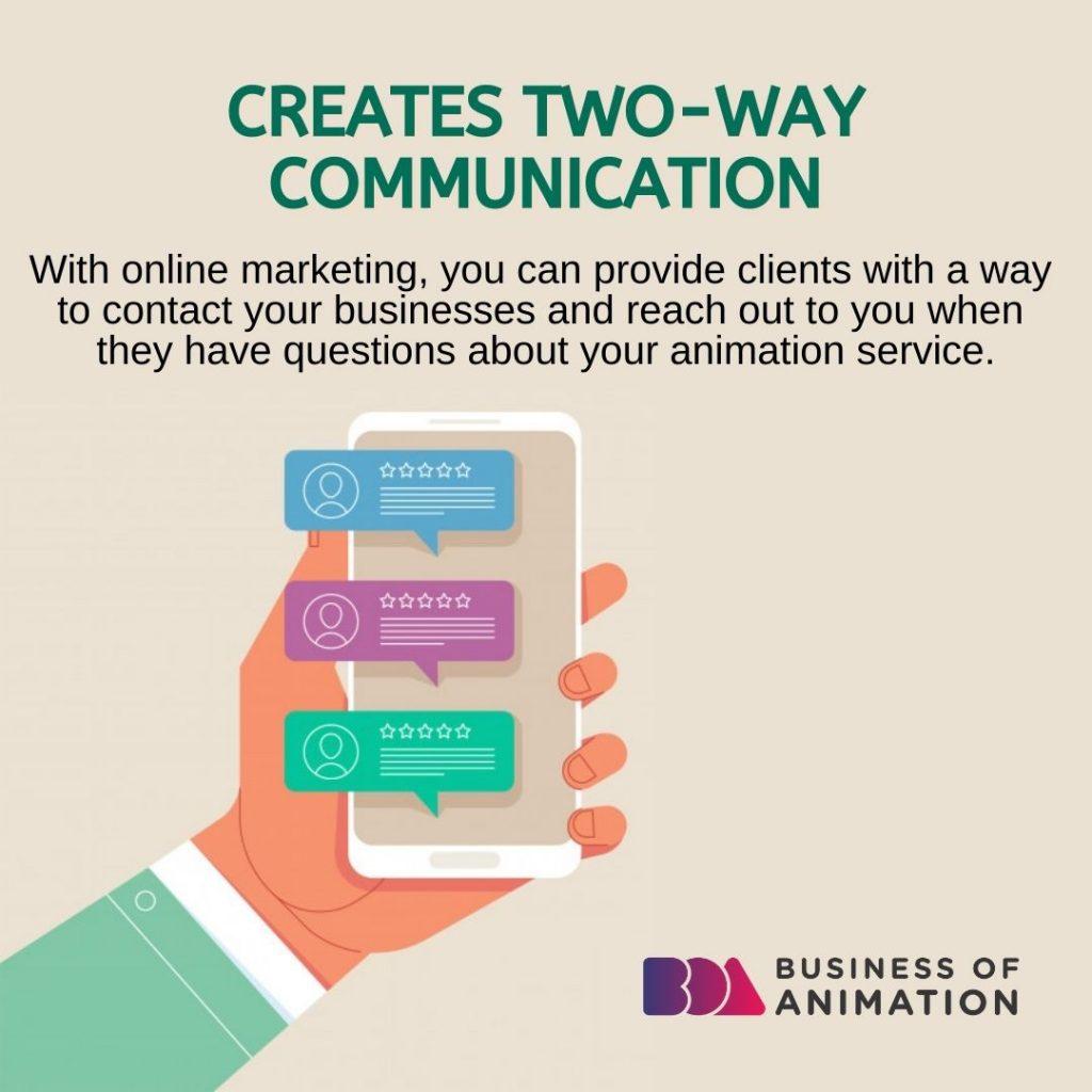 Creates Two-Way Communication