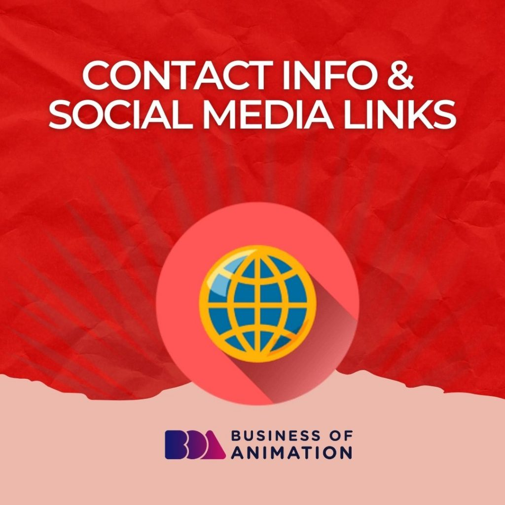Contact Info & Social Media Links
