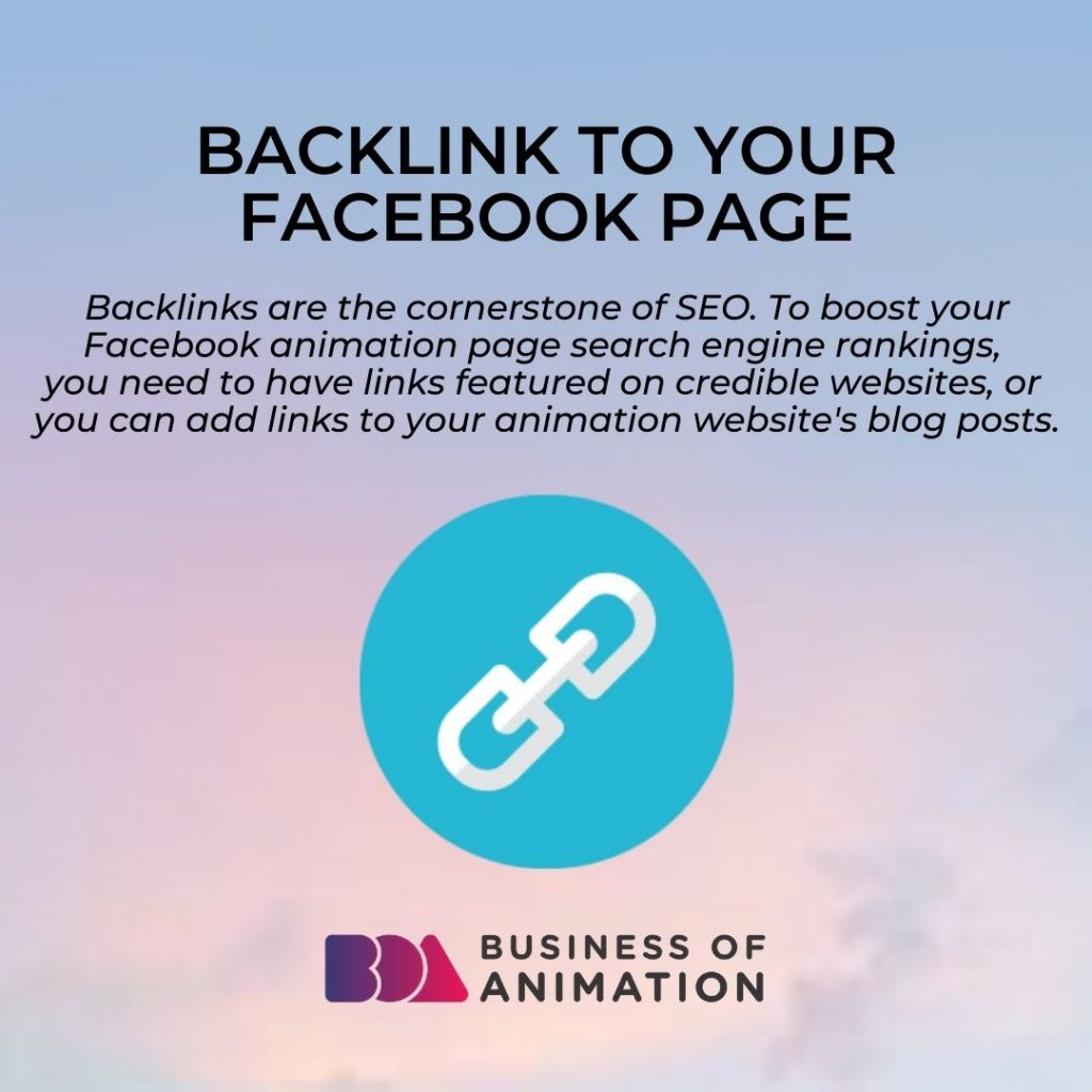 Backlink to Your Facebook Page