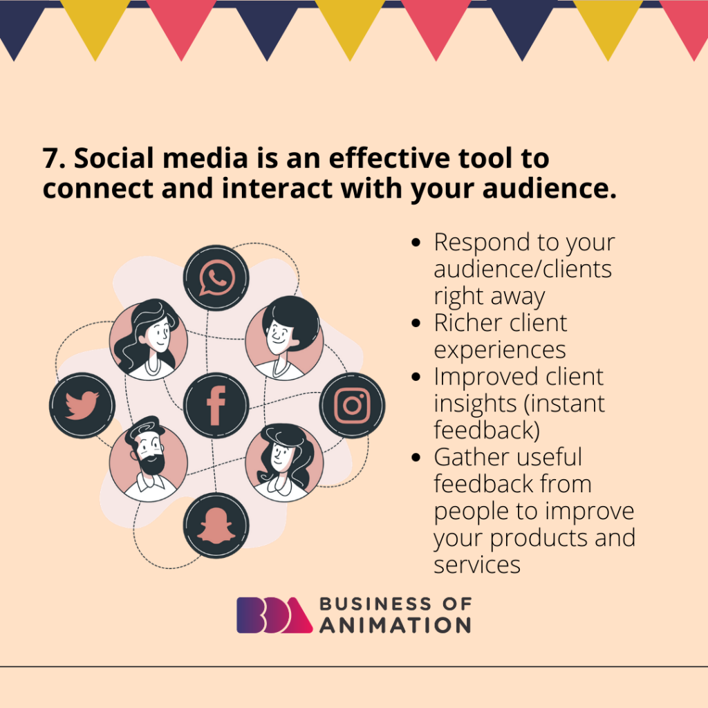 Social media is an effective tool to connect and interact with your audience