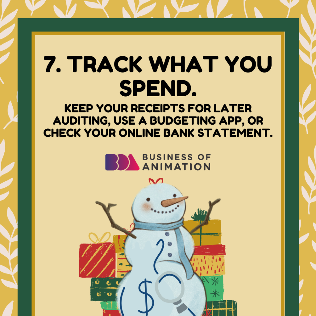 TRACK WHAT YOU SPEND.