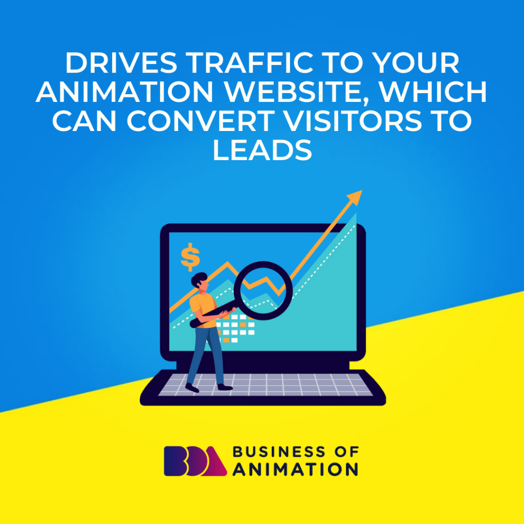 Drives Traffic to Your Animation Website, Which Can Convert Visitors to Leads