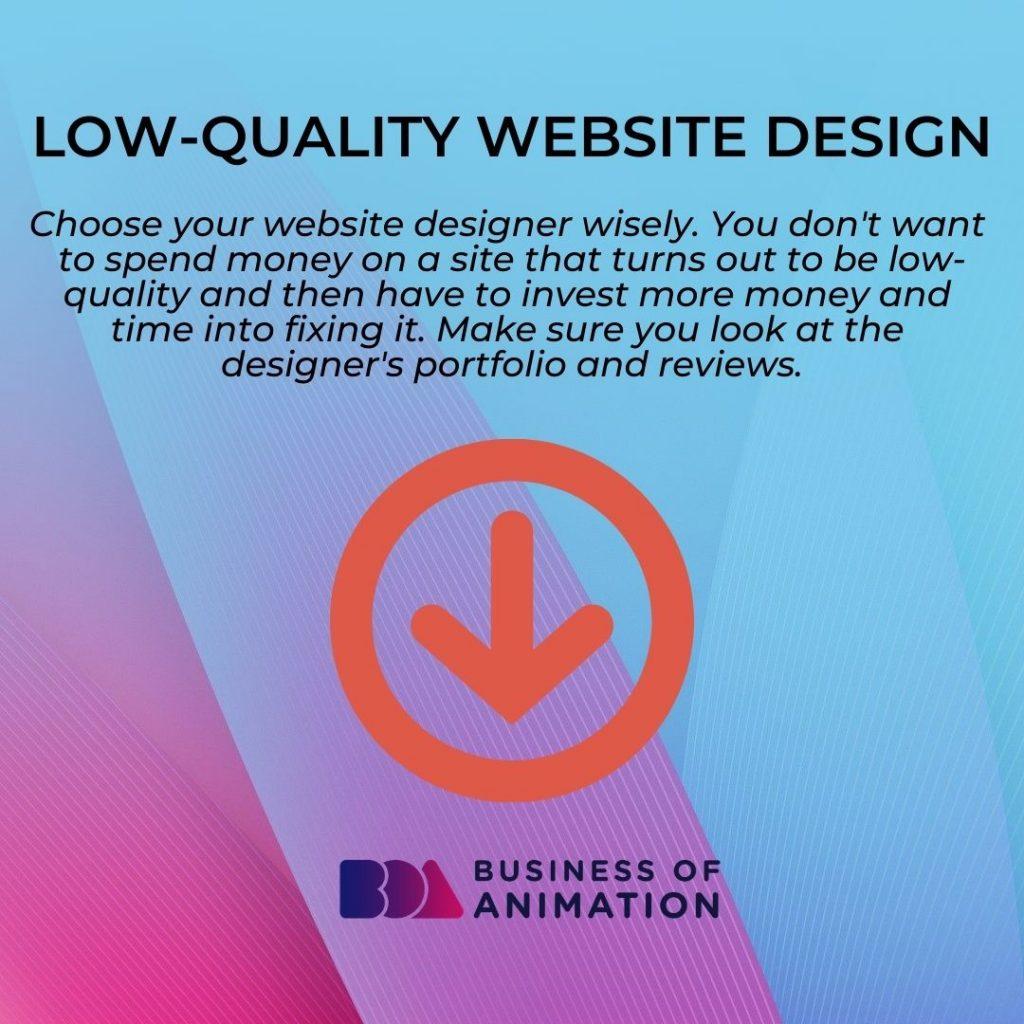 Low-Quality Website Design