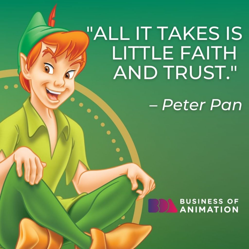 Famous Movie Quote from Peter Pan