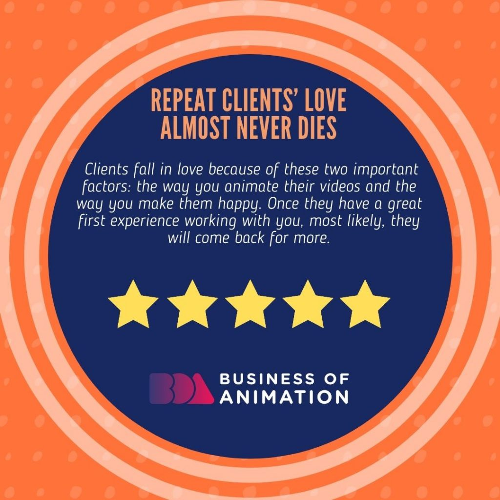 Repeat Clients' Love Almost Never Dies