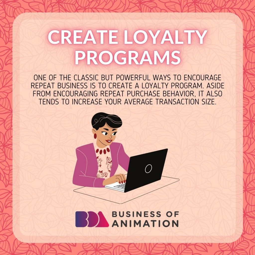 Create loyalty programs