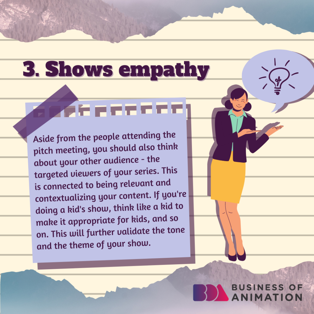Shows empathy