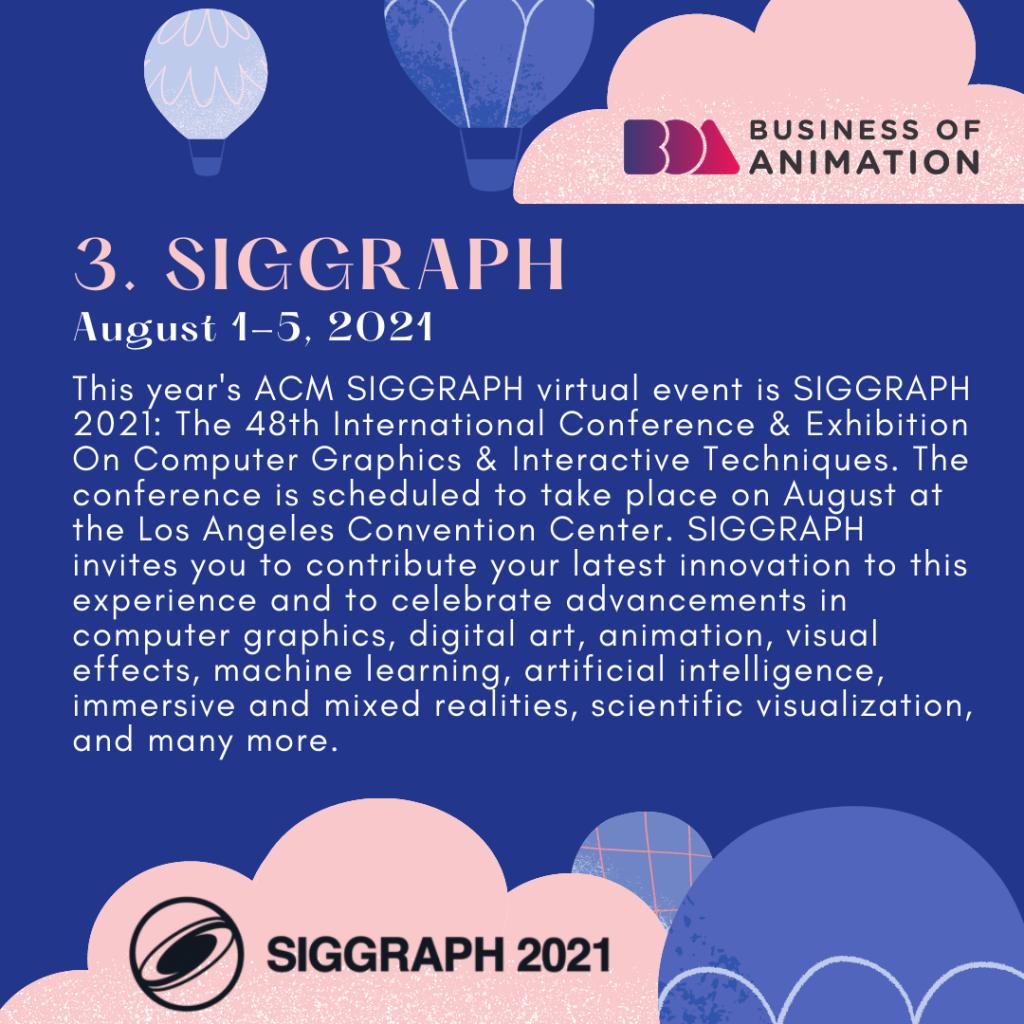 SIGGRAPH (August 1-5, 2021)