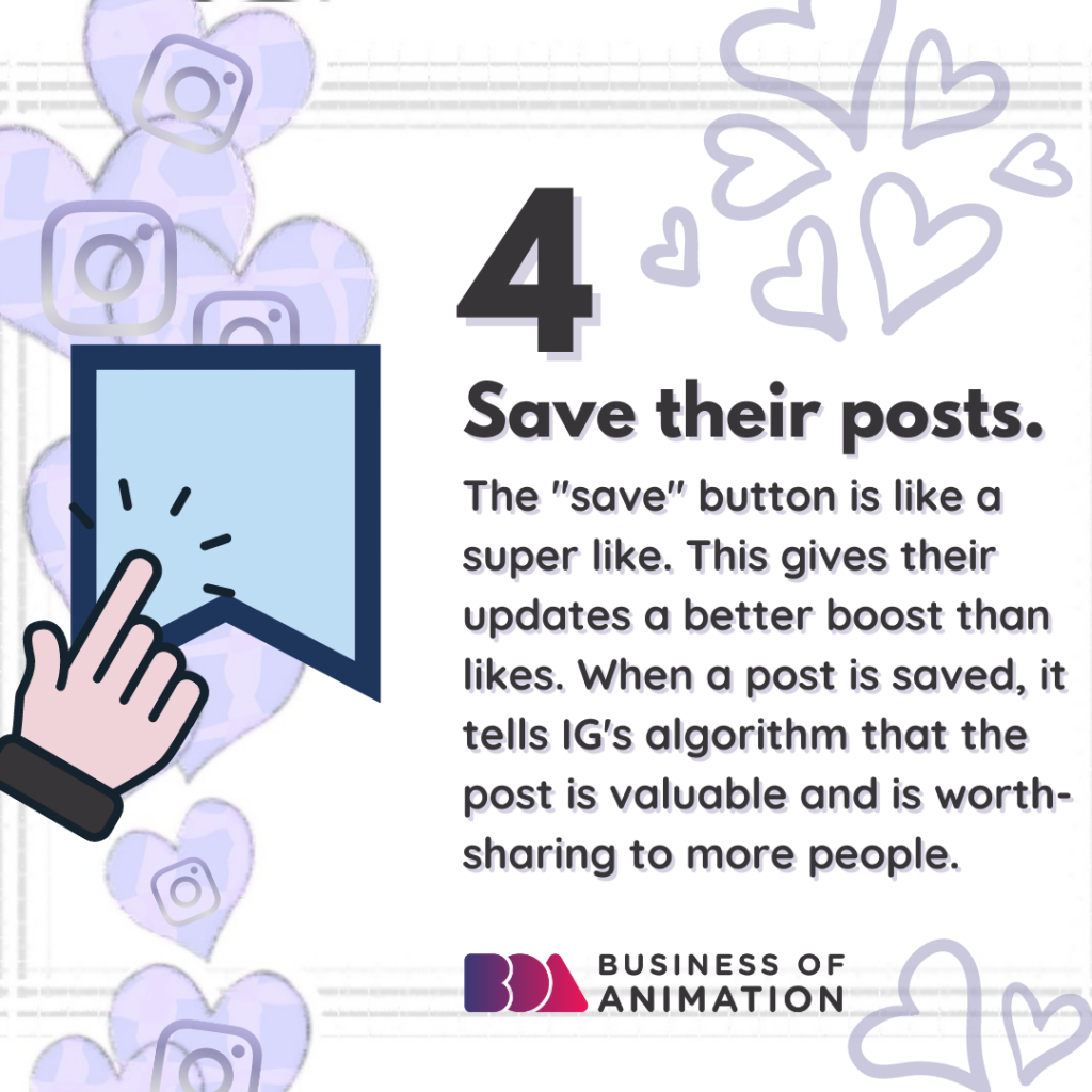 Save their posts.