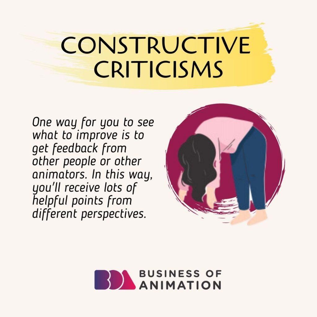 Constructive criticisms