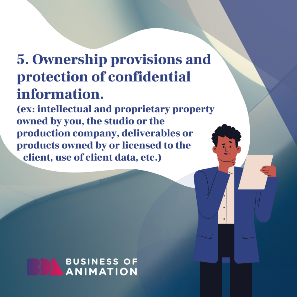 Ownership provisions and protection of confidential information