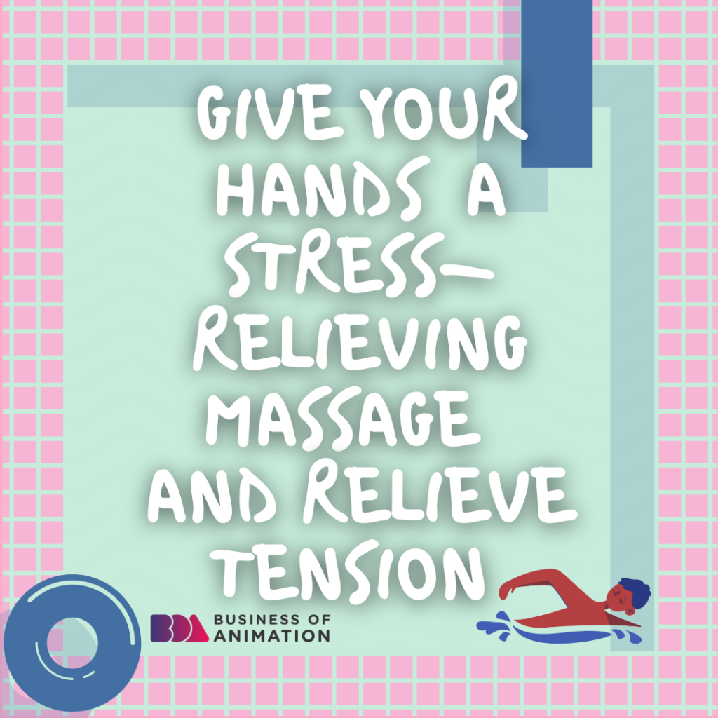 Give your hands a stress-relieving massage and relieve tension