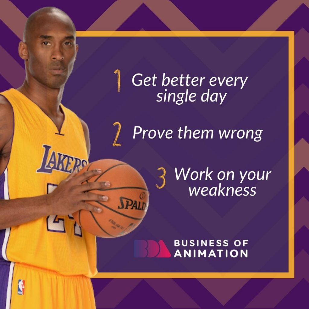 Get better every single day, Prove them wrong, Work on your weakness