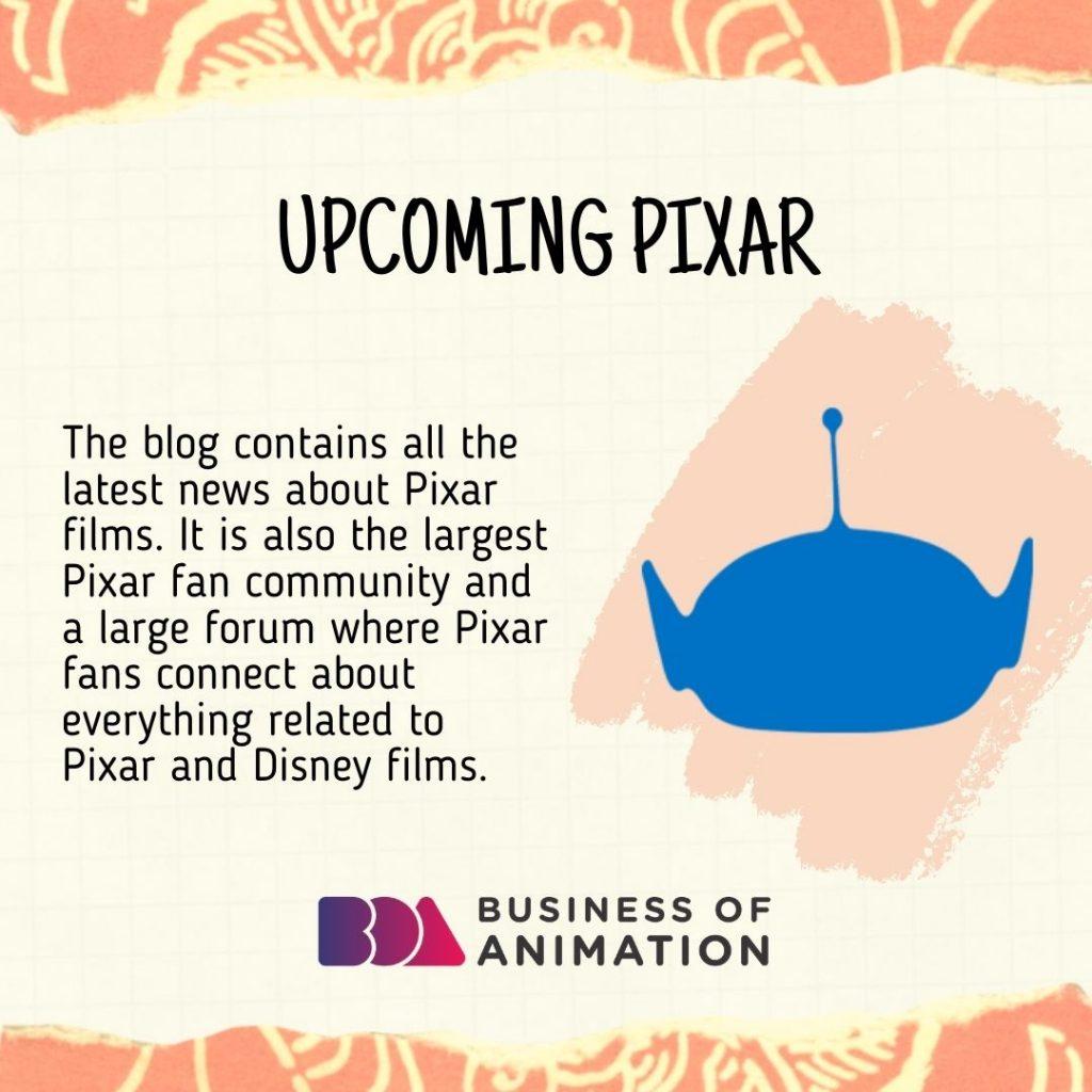 Upcoming Pixar