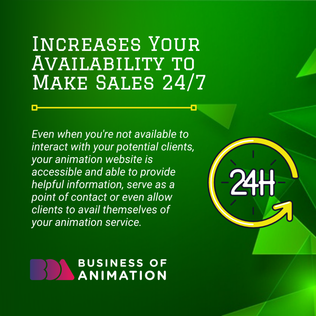 Increases Your Availability to Make Sales 24/7
