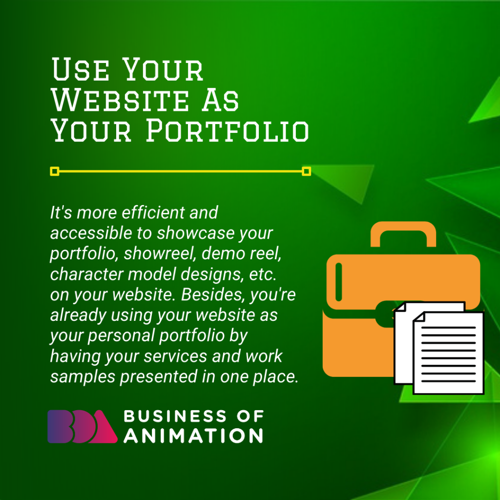 Use Your Website As Your Portfolio
