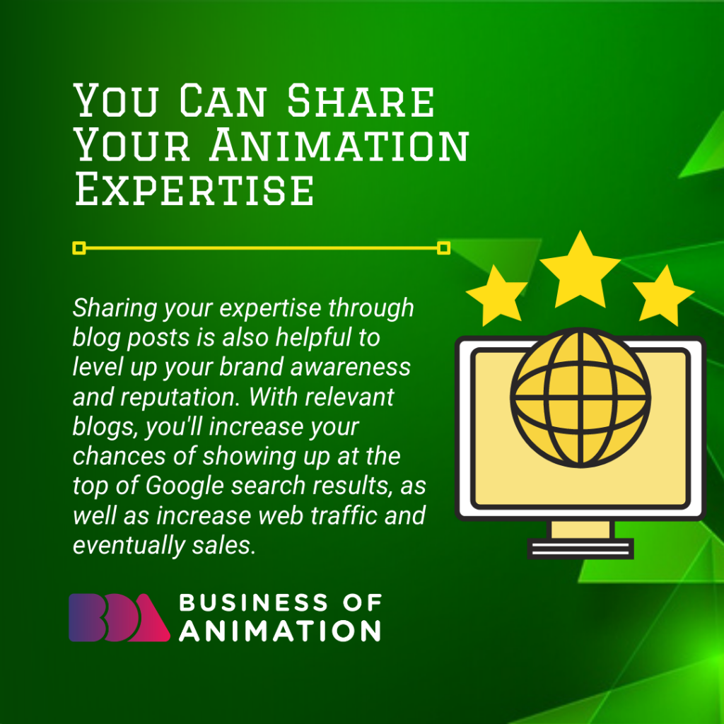 You Can Share Your Animation Expertise