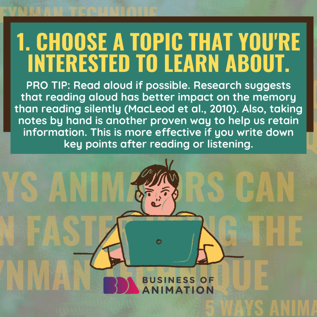 Choose a topic that you're interested to learn about.