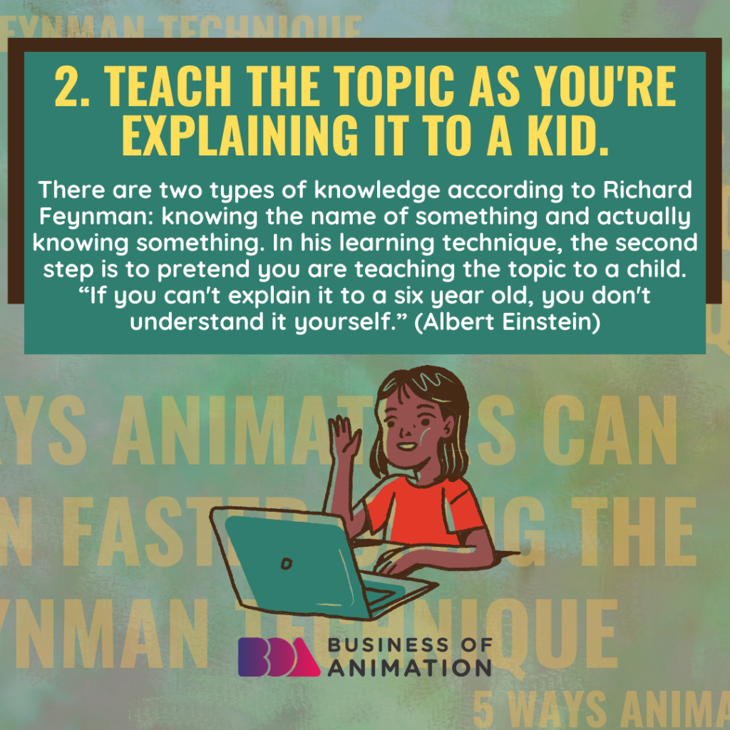 Teach the topic as you're explaining it to a kid.