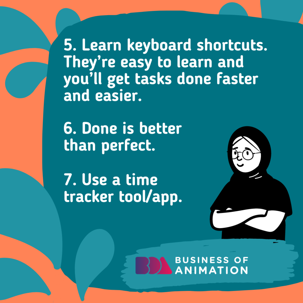 Learn keyboard shortcuts. They're easy to learn and you'll get tasks done faster and easier.