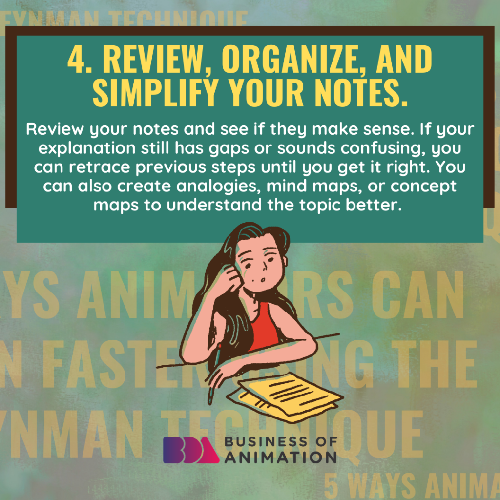 Review, organize, and simplify your notes
