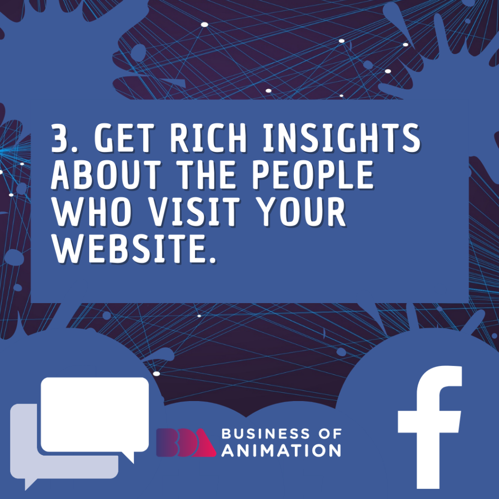 Get rich insights about the people who visit your website.