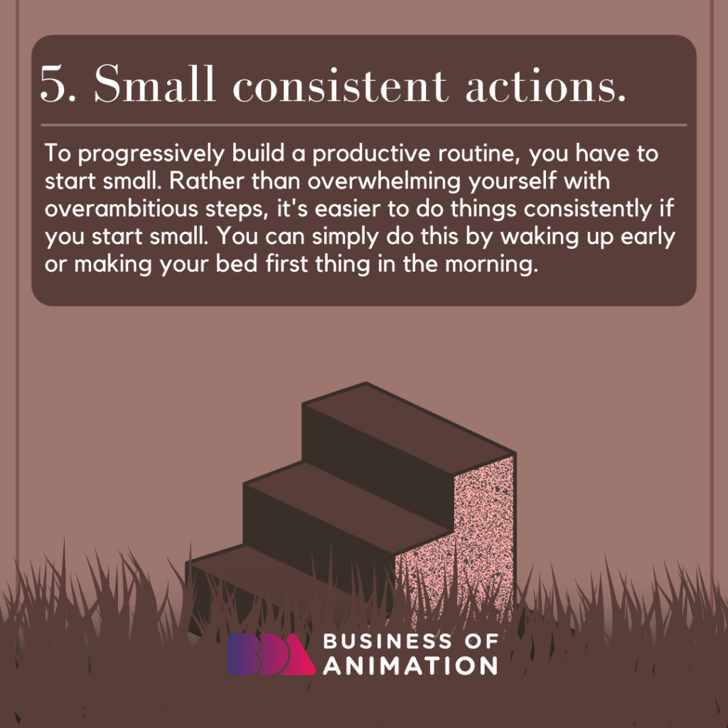 Small consistent actions.