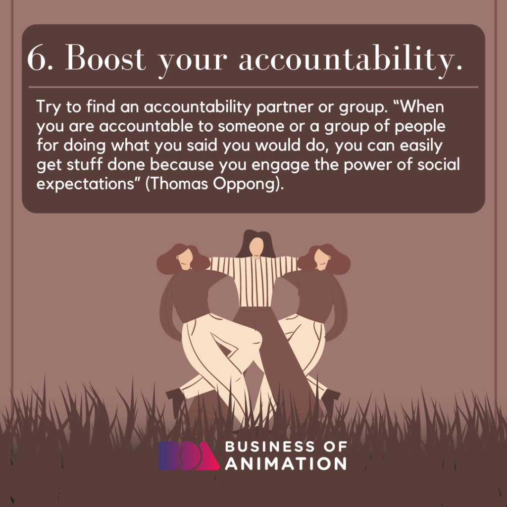 Boost your accountability.