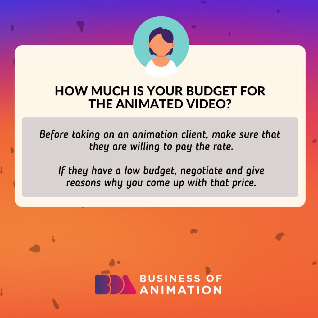 How much is your budget for the animated video?