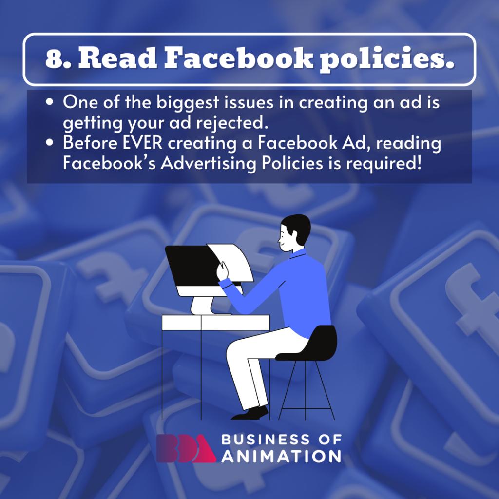 Read Facebook policies.